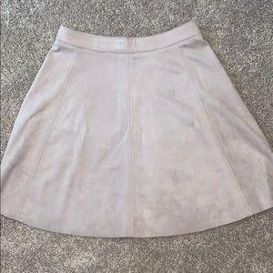 Blush suede skirt